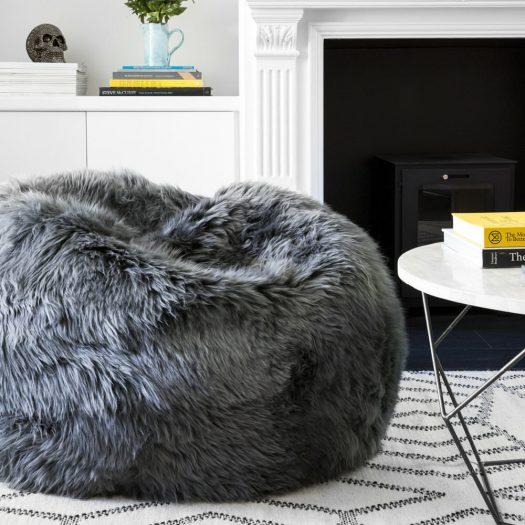 New Zealand Sheepskin Bean Bag – Ivory