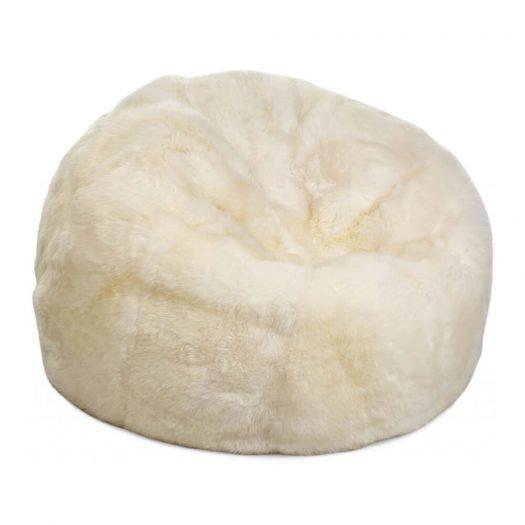 New Zealand Sheepskin Bean Bag - Ivory