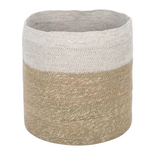 Seagrass Storage Basket - Natural/White