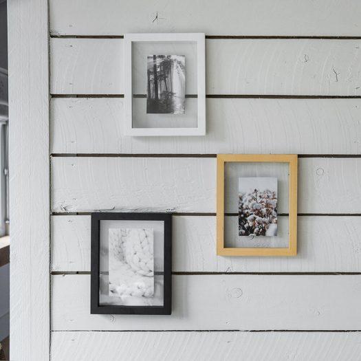Floating Photo Frame – White – 4×6″