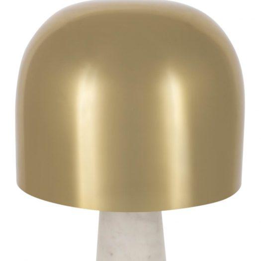 Gold & Marble Mushroom Table Lamp