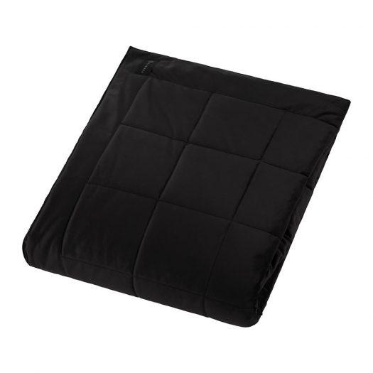 Square Velvet Bedspread - Black - 240x200cm