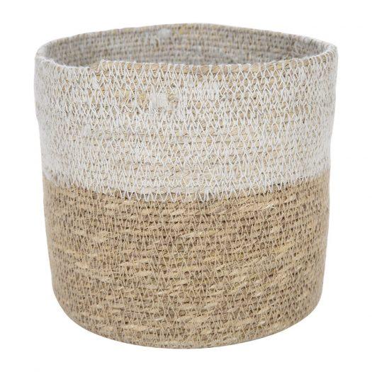 Seagrass Storage Baskets - Natural/White - Set of 2