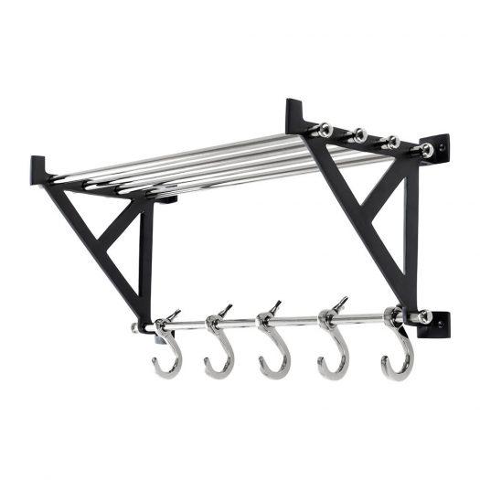 Towel Rail With Hooks - Nickel