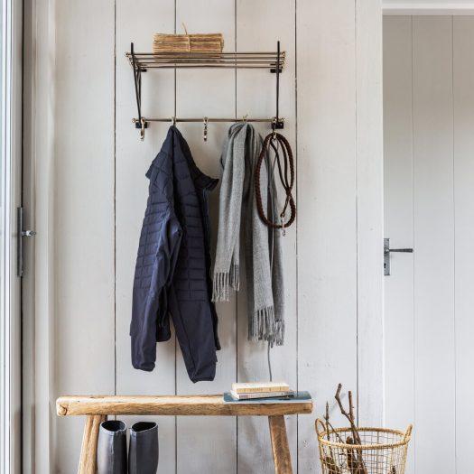 Towel Rail With Hooks – Nickel
