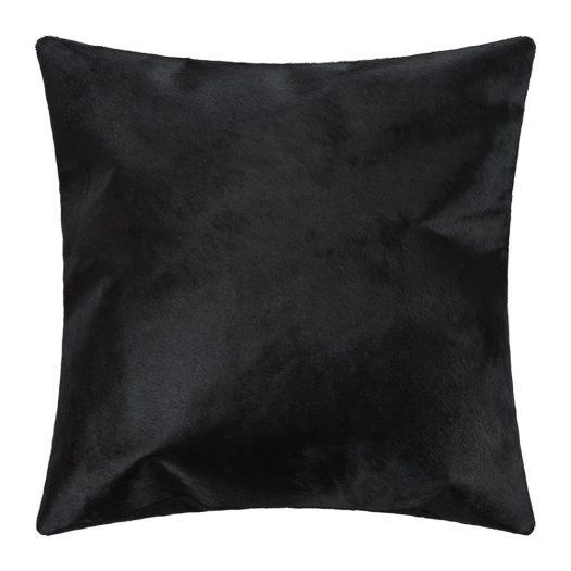 Cowhide Cushion - 45x45cm - Black