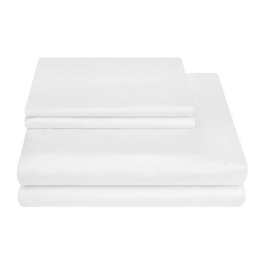 500 Thread Count Sateen Duvet Cover - White - Super King