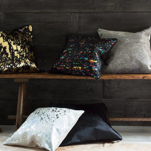 Cowhide Cushion – 45x45cm – Black