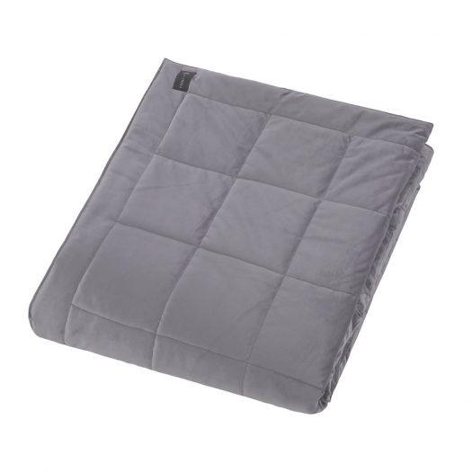 Square Velvet Bedspread - Grey - 240x200cm