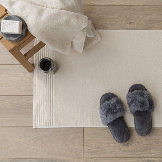 Cotton Bath Mat – Ivory