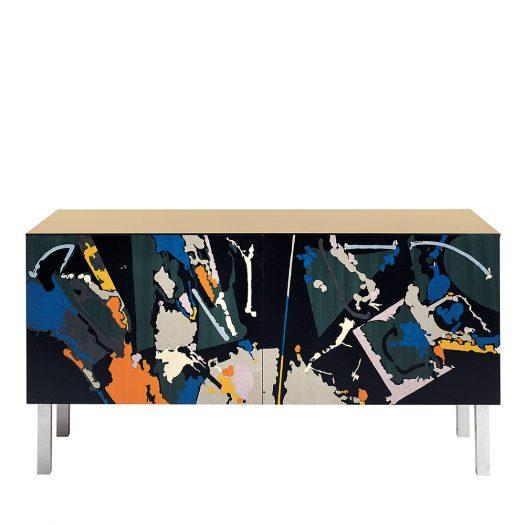 Intarsia Cabinet by Edoardo Franceschini