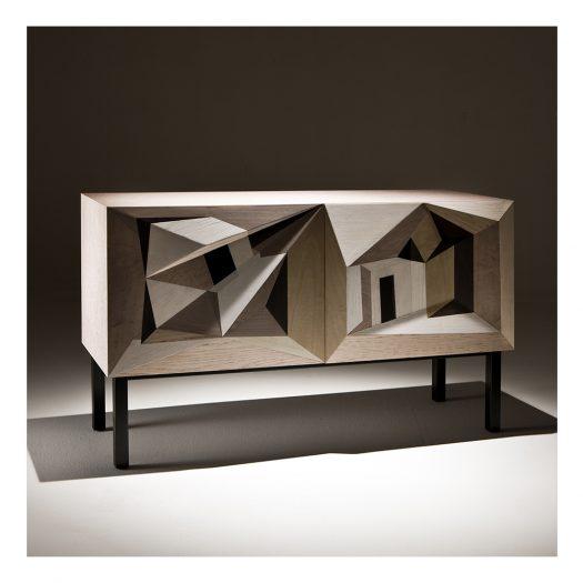 Dentro Il Paesaggio Intarsia Sideboard by Marcello Jori