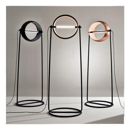 Globe Black Floor Lamp by Edoardo Colzani
