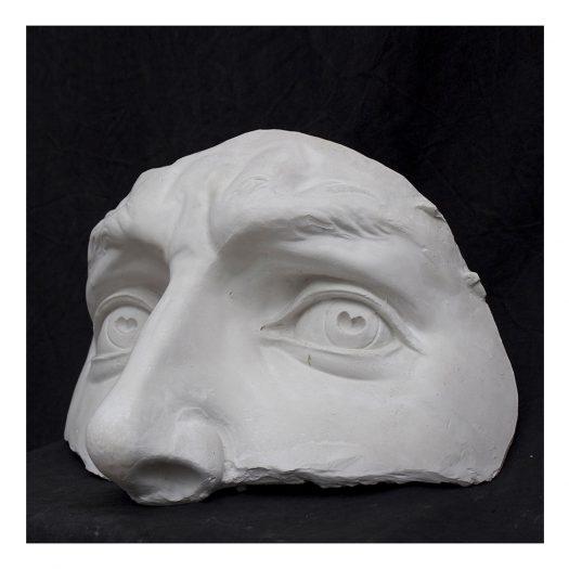 Occhi David Plaster Sculpture