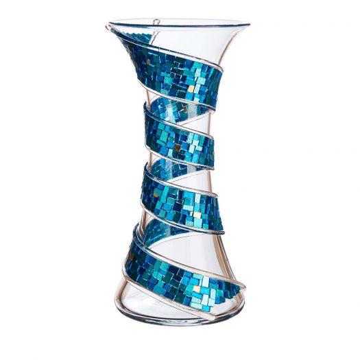Spira Turchese Vase by Serena Luxury Mosaic