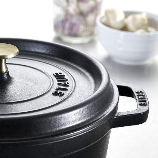 Staub Cast Iron Round Cocotte Black 24 cm
