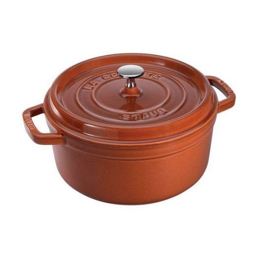 Staub Round Casserole 24 cm, Cinnamon