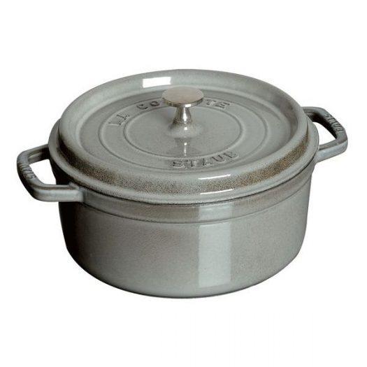 Staub Round Casserole 30 cm, Grey