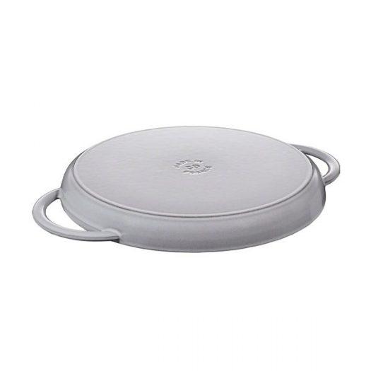 Staub Pure Graphite Grey Cast Iron Grill Pan, 30cm