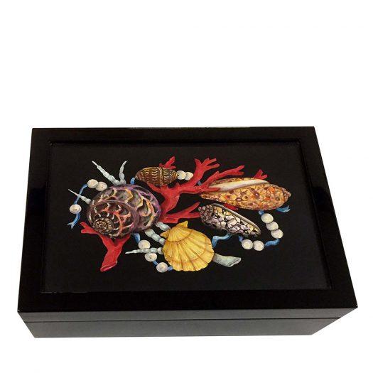 Shells, Coral and Pearls Box