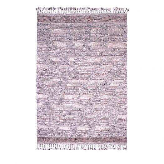 DUN 6096 Gray and Pink Carpet