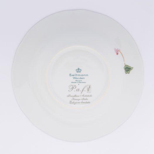 Ciclamini di Bosco Set of 6 Soup Plates by Paola Caselli