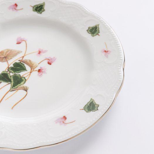 Ciclamini di Bosco Set of 4 Dessert Plates by Paola Caselli