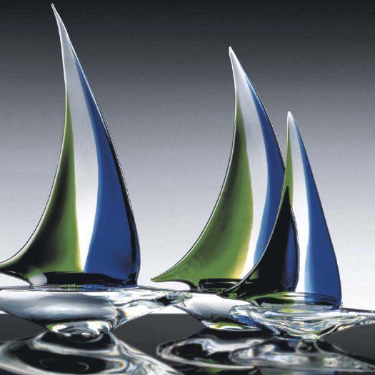 Navicula Set of Three Sculptures