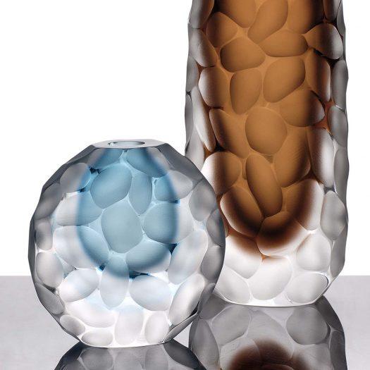 Invidia Round Aquamarine Vase