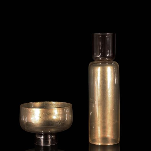 Giano Tall Gold Vase and Cup