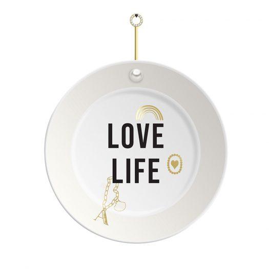 Jewel Decorative Plate Love Life