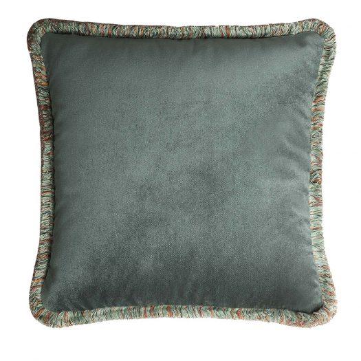 Happy Teal Cushion by Lo Decor