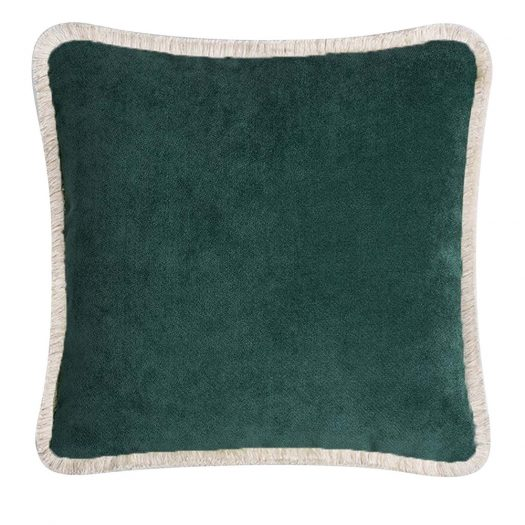 Happy Forest Green Cushion by Lo Decor