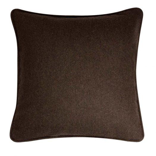 Wool Mocha Cushion by Lo Decor