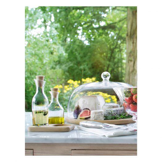 ServeOil & Vinegar Set & Oak Base L15cm