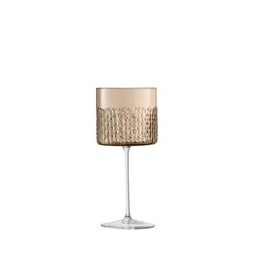 WickerWine Glass Taupe x 2 320ml