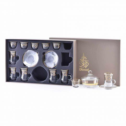 Set of 20 Pcs Assorted Drinkware (Gold & Black)