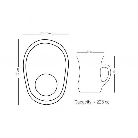 Set of 4 Pcs Mug and Saucer (Gold & Black)