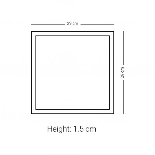 Large Square Plate (Gold)
