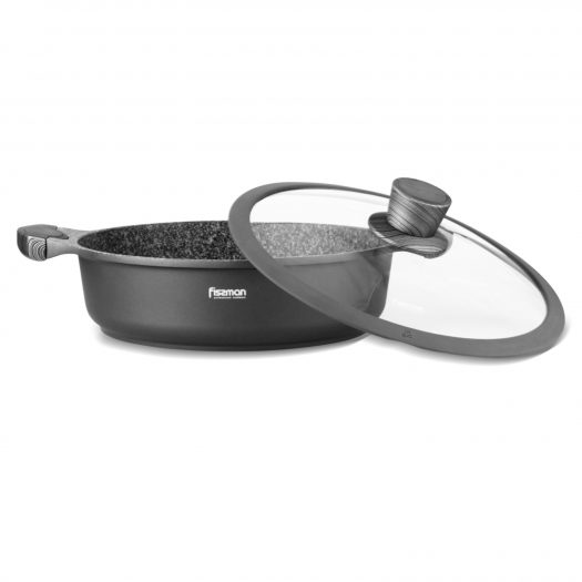 Shallow Pot Prestige 28X8 cm / 4.1 Ltr With Glass Lid (Aluminum With Non-Stick Coating)