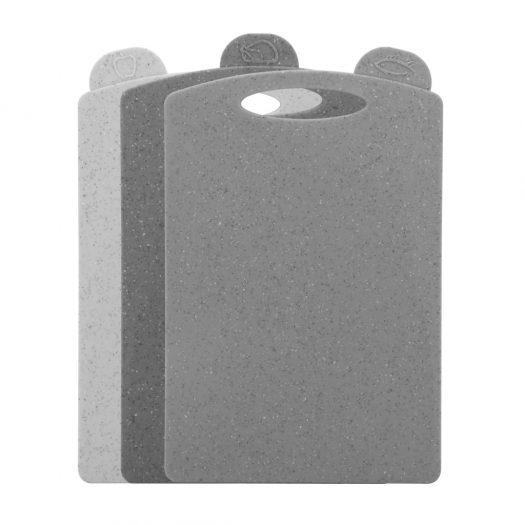 3 pcs index chopping board set 31×19.5 cm (plastic)