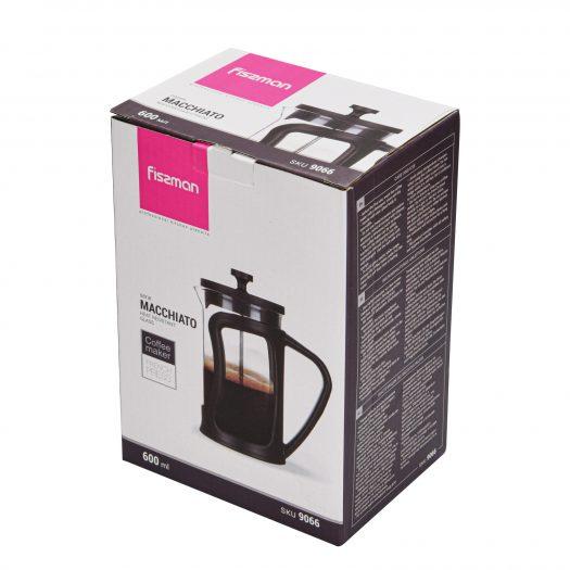 French press coffee maker MACCHIATO 600 ml (borosilicate glass)