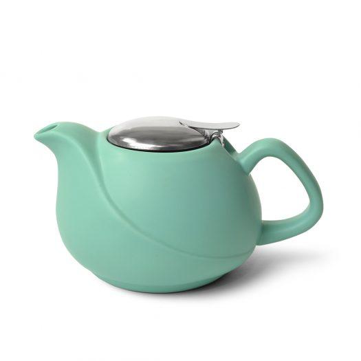 Teapot 750 ml with a metal strainer AQUAMARINE (ceramic)