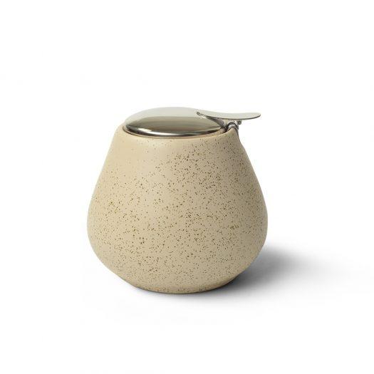 Sugar bowl 600 ml WHITE SAND (ceramic)
