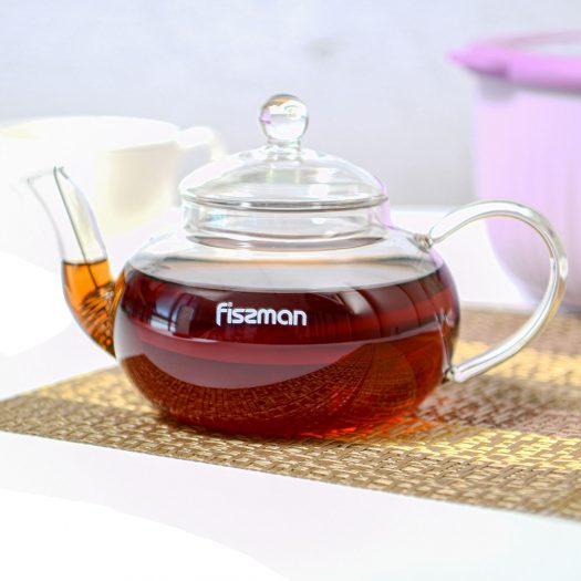 Tea pot 600 ml with steel infuser (heat resistant glass)