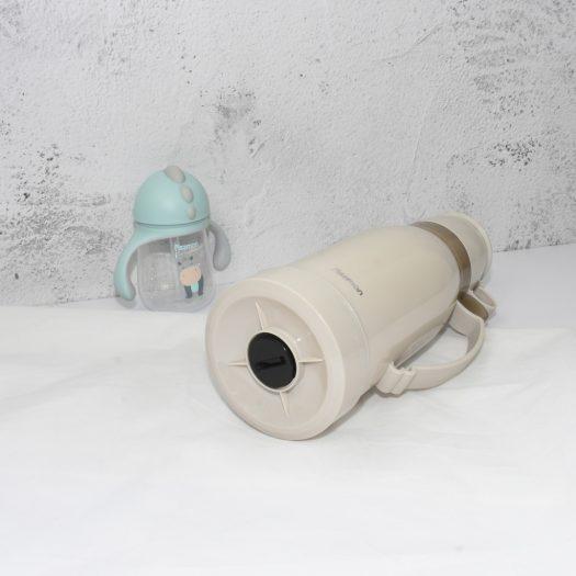 Vacuum bottle 1000 ml CREAM with glass liner