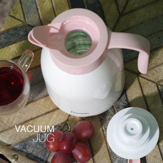 Vacuum insulated jug 1000 ml CREAM (plastic case with glass liner)