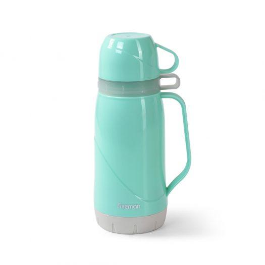 Vacuum flask 600 ml AQUAMARINE (plastic case with glass liner)