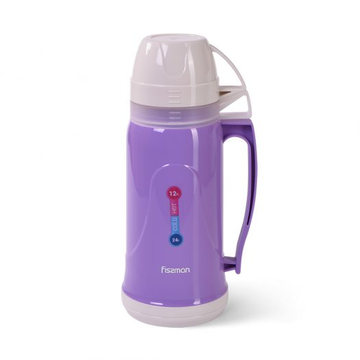 Vacuum flask 1000 ml VIOLET (plastic case with glass liner)