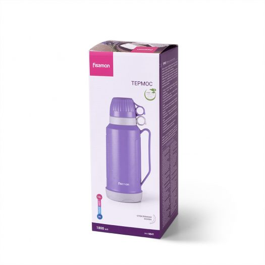 Vacuum flask 1800 ml VIOLET (plastic case with glass liner)
